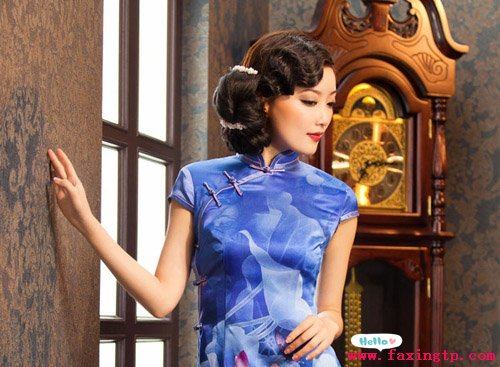 旗袍发型图片,典雅高贵气质范